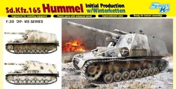 Niemieckie samobieżne działo polowe Sd.Kfz.165 Hummel , plastikowy model do sklejania Dragon 6876 w skali 1:35