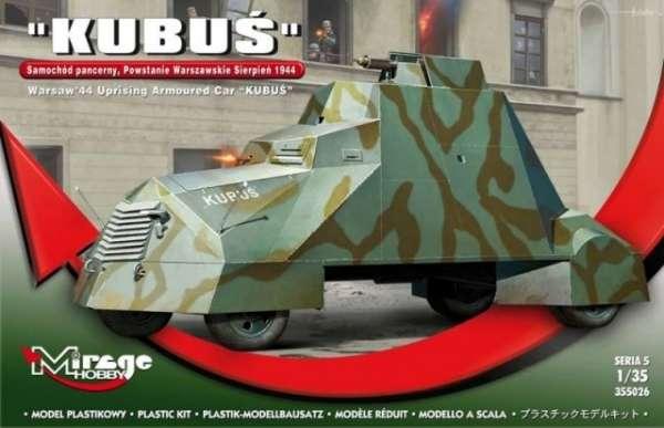 Pojazd pancerny Kubuś z okresu Powstania Warszawskiego - model Mirage