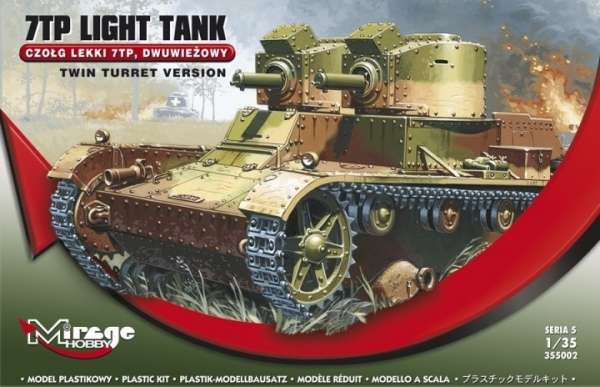 Czołg lekki 7TP dwuwieżowy - Mirage Hobby 355002