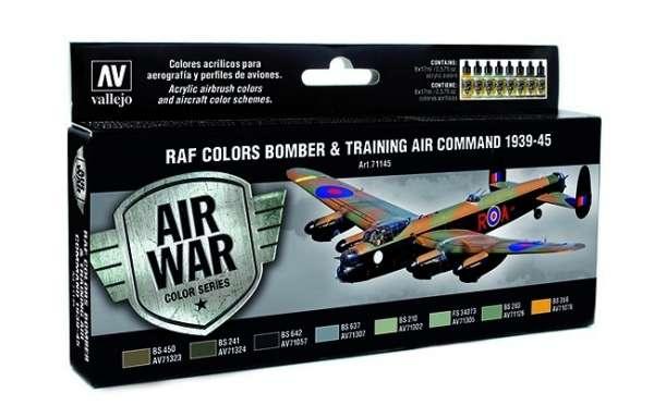 Zestaw modelarskich farb akrylowych do malowania bombowców RAF 1939-45, Vallejo 71145