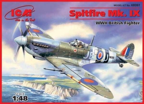 Brytyjski myśliwiec Spitfire Mk. IX, plastikowy model do sklejania ICM 48061 w skali 1:48