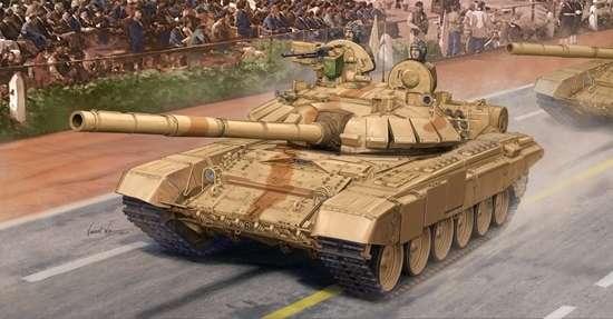 T-90 współczesny czołg produkcji rosyjskiej w wersji S produkowany dla Indii, plastikowy model do sklejania Trumpeter 05561 w skali 1:35