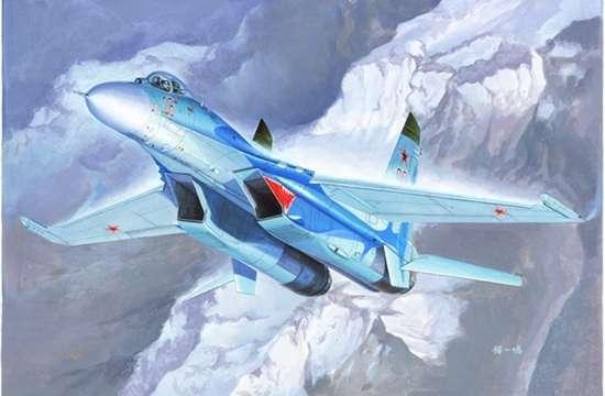 Rosyjski samolot myśliwski Su-27 Flanker B , plastikowy model do sklejania Trumpeter 01660 w skali 1-72