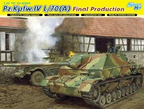 Niemiecki niszczyciel czołgów Pz.Kpfw.IV L/70(A), plastikowy model do sklejania Dragon 6784 w skali 1:35.
