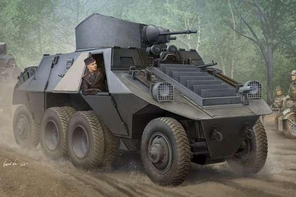 Austriacki ciężki samochód pancerny M35 ADGZ Steyr - Daimler, plastikowy model do sklejania Hobby Boss 83889 w skali 1:35