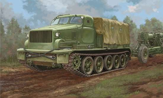 Radziecki gąsienicowy transporter, plastikowy model do sklejania Trumpeter 09501 w skali 1:35