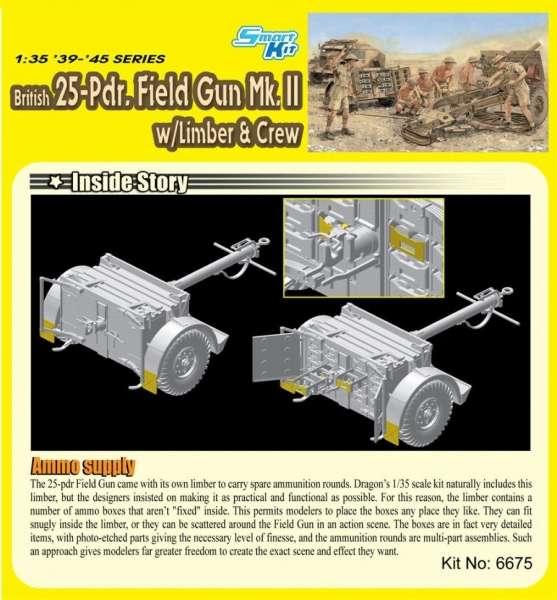 Dragon 6675 Działo 25-Pd. Field Gun Mk.II w/Limber and Crew