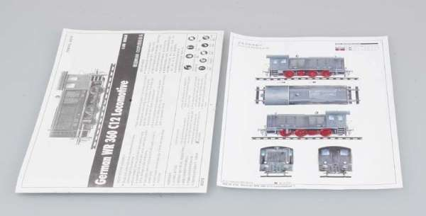Trumpeter 00216 w skali 1:35 - model German WR 360 C12 Locomotive do sklejania - image l