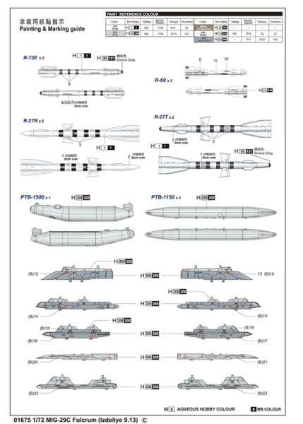 Model Trumpeter 01675 MiG-29C Fulcrum Izdeliye 9.13